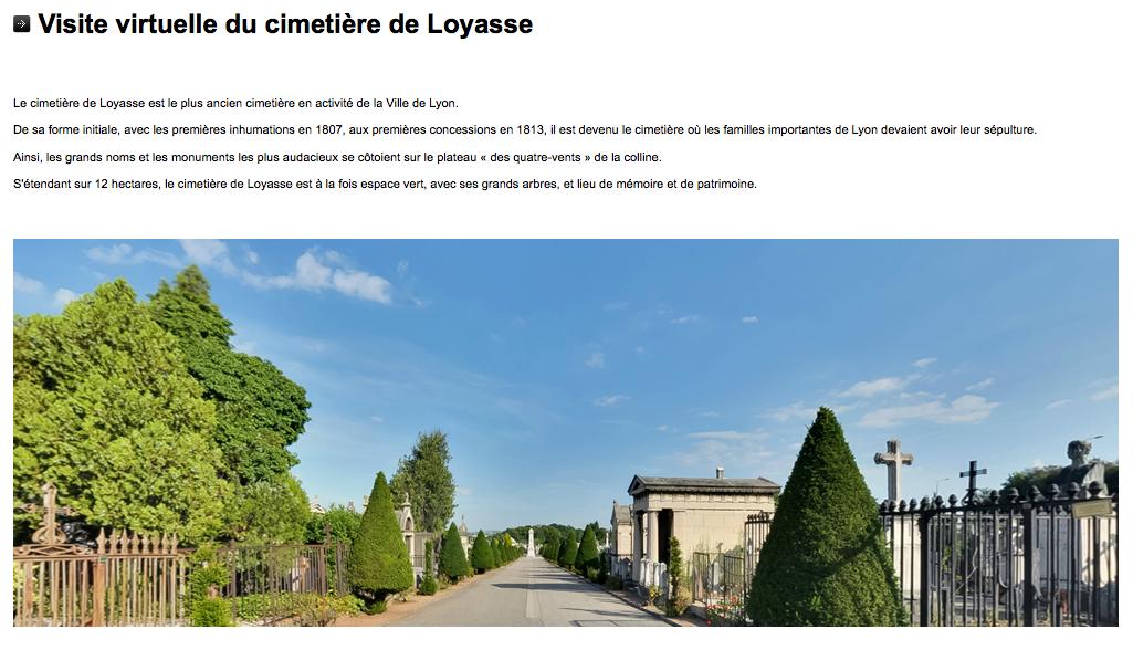 Visite virtuelle du cimetière de Loyasse !