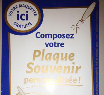 plaque souvenir marbre lyon