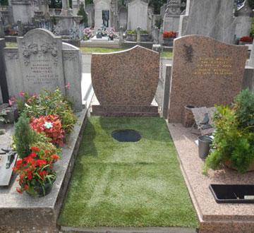 inhumation urne Lyon